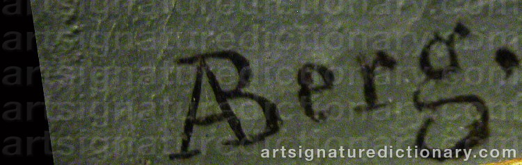 Signature by Albert BERG