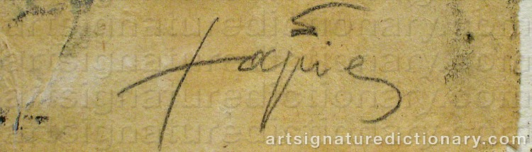 Forged signature of Antoni TAPIES