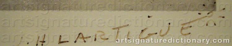 Signature by Jacques-Henri LARTIGUE