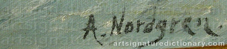 Forged signature of Axel Wilhelm NORDGREN