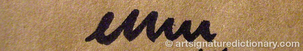 Signature by Egon MÖLLER-NIELSEN