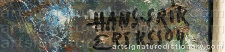 Signature by Hans Erik ERIKSSON