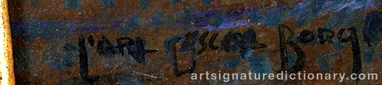 Signature by Carl Oscar BORG