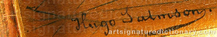 Signature by Hugo SALMSON