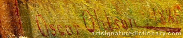 Signature by Oscar OHLSON