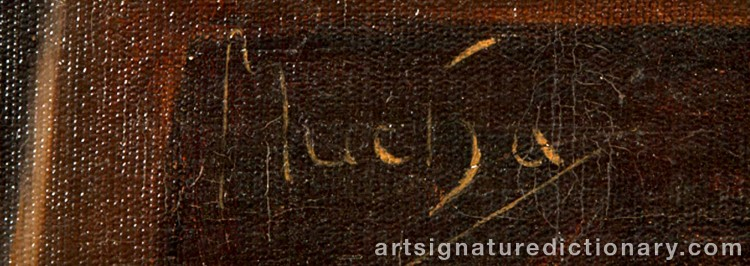 Signature by Alphonse MUCHA