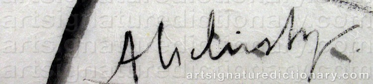 Forged signature of Pierre ALECHINSKY