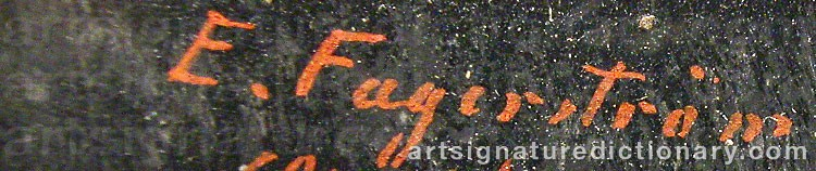 Signature by E. FAGERSTRÖM