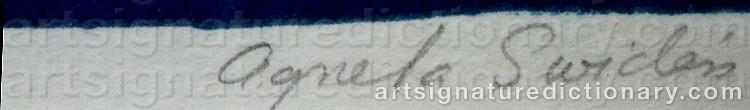 Signature by Agneta SWIDÉN