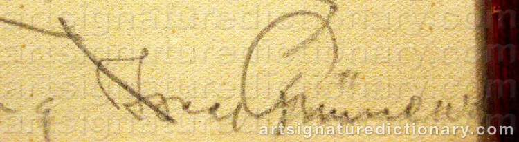 Signature by Isaac GRÜNEWALD