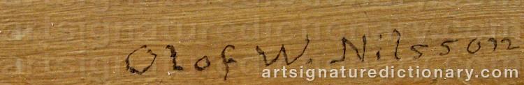 Signature by Olof Walfrid NILSSON