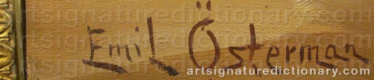 Signature by Emil ÖSTERMAN