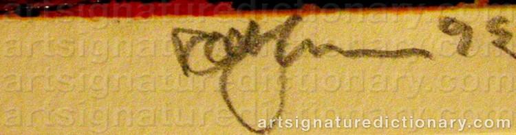 Signature by Rolf HANSON