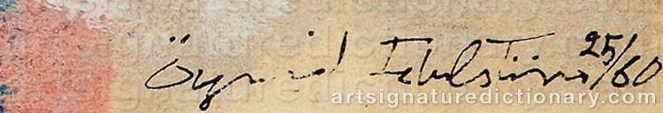 Signature by Öyvind FAHLSTRÖM