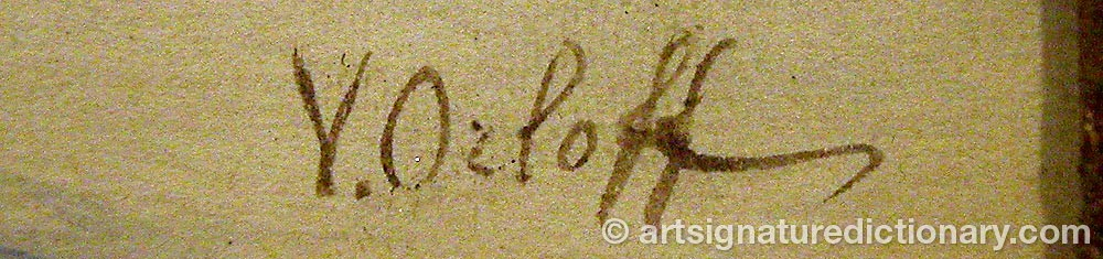 Signature by V ORLOFF
