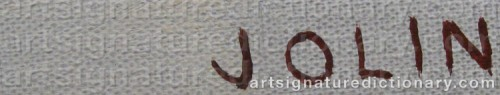 Signature by: JOLIN, Einar