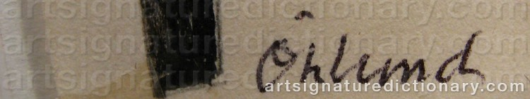 Signature by Bertil ÖHLUND