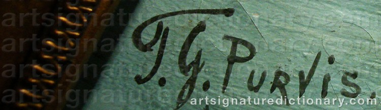 Signature by Thomas G. PURVIS