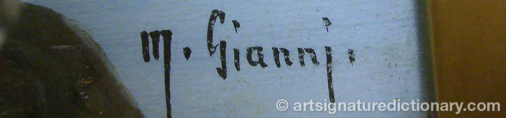Signature by M. GIANNI