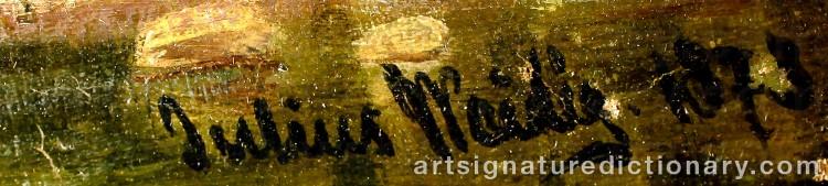 Signature by Julius WEIDIG