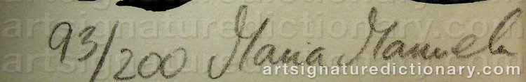 Signature by Maria Manuela VINTILESCU