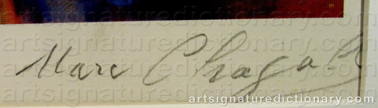 Forged signature of Marc CHAGALL