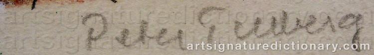 Signature by Peter TILLBERG