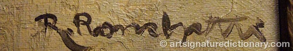 Signature by R. RONCHETTI