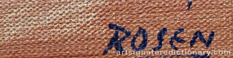 Signature by Kjell ROSÉN
