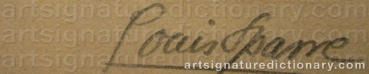 Signature by Louis SPARRE