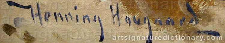 Signature by Henning HOUGAARD
