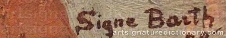 Signature by Signe BARTH
