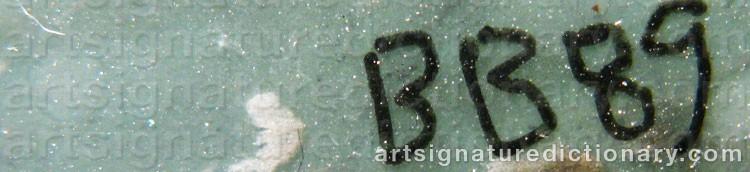 Signature by Barbro BÄCKSTRÖM