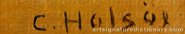 Signature by Carl HOLSÖE