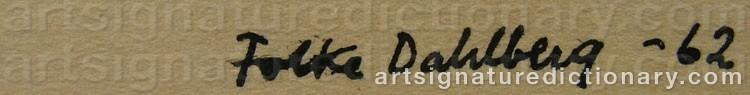 Signature by Folke DAHLBERG