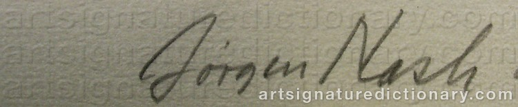 Signature by Jørgen NASH