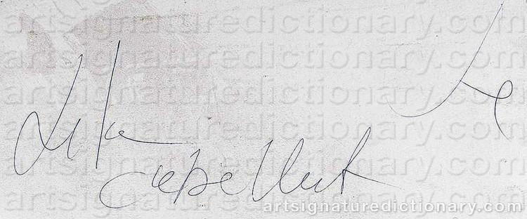 Signature by Lita CABELLUT