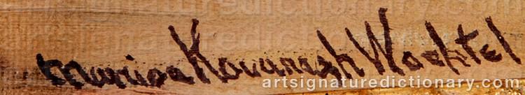 Signature by Marion Kavanagh WACHTEL