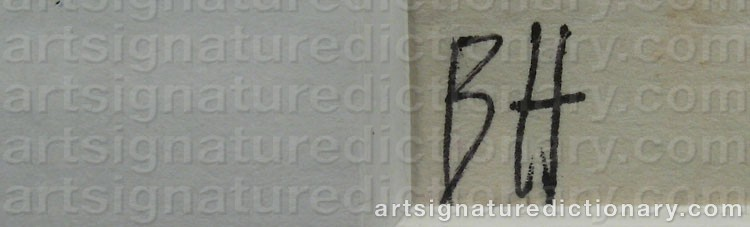 Signature by Berta HANSSON