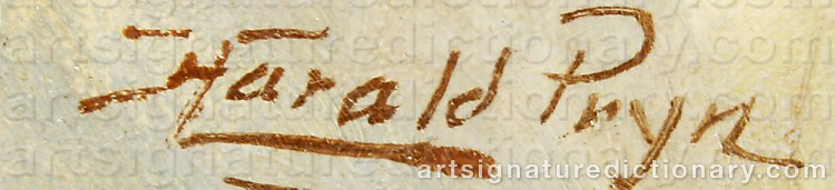 Signature by Harald PRYN