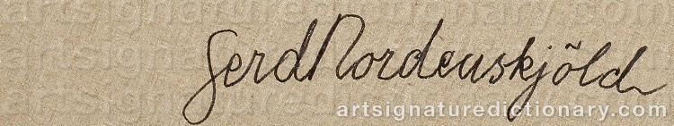 Signature by Gerd NORDENSKJÖLD