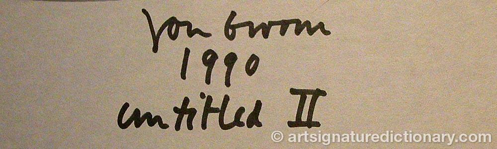 Signature by Jon GROOM