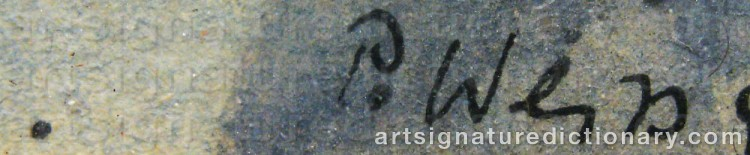 Signature by Peter WEISS