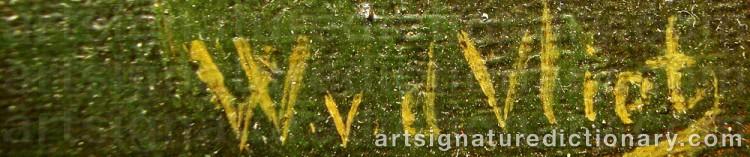Signature by Willem Van Der VLIET