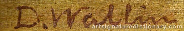 Signature by David WALLIN