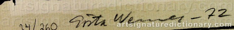 Signature by Gösta WERNER