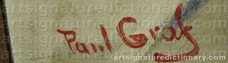 Signature by Paul GRAF