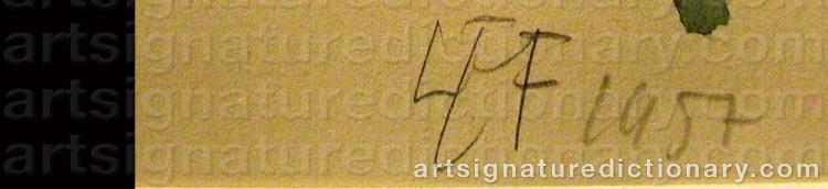 Signature by Lars Erik FALK