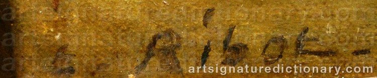 Signature by Théodule Augustin RIBOT
