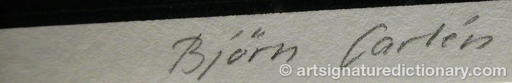 Signature by Björn CARLÉN